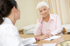 Woman in doctor's office Stock Photos