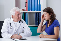 Woman at the doctor's Royalty Free Stock Photography
