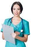 Woman doctor smiling Stock Photo
