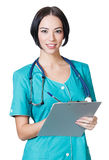 Woman doctor smiling Royalty Free Stock Images