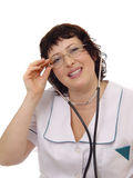 Woman Doctor with Stethoscope Stock Image