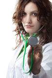 Woman Doctor with Stethoscope Royalty Free Stock Photography