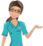 Woman Doctor Surgeon Presenting Stock Images