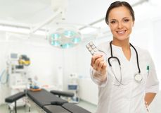 Woman doctor in surgery room Stock Photography