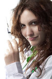 Woman Doctor with Syringe Royalty Free Stock Photos