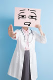 Woman doctor take tired billboard Stock Images