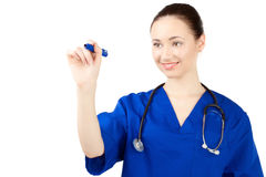 Woman doctor in uniform Stock Photos