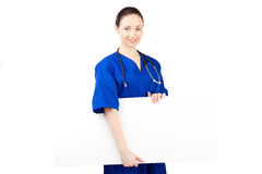 Woman doctor in uniform Royalty Free Stock Photos