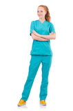 Woman-doctor in  uniform Stock Images