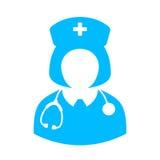 Woman doctor vector icon Stock Photos