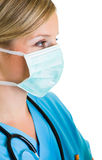 Woman doctor wearing protective face mask Royalty Free Stock Photography