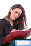 Woman and document Royalty Free Stock Photography