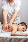 Children massage Royalty Free Stock Images