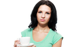 Woman doesn't like her drink Royalty Free Stock Photos