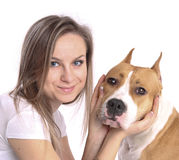 Woman with the dog Stock Photos
