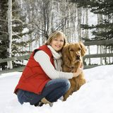 Woman with dog. Royalty Free Stock Photo
