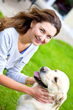 Woman with the dog Royalty Free Stock Photo