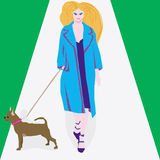 Woman and a dog. Royalty Free Stock Images