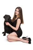 Woman and dog Stock Photography