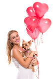 Woman with dog. Stock Photo