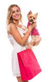 Woman with dog. Royalty Free Stock Photos
