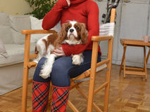 Woman and Doggy Royalty Free Stock Photography