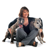 Woman and dogs Royalty Free Stock Photography