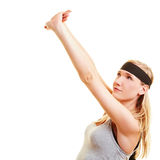 Woman doing aerobics Stock Photography