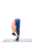 Woman doing Ashtanga Vinyasa Yoga Surya Namaskar Sun Salutation Stock Image