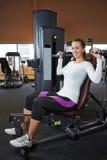 Woman doing back exercises Royalty Free Stock Image