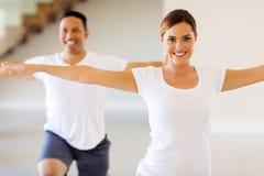 Woman doing body exercise Royalty Free Stock Photo