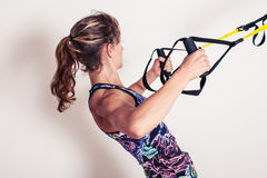 Woman doing bodyweight exercises Stock Photography