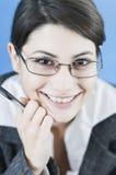 Woman doing business Stock Photos
