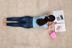 Woman Doing Calculation At Home Stock Photos