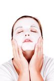 Woman doing cosmetic mask Royalty Free Stock Photos