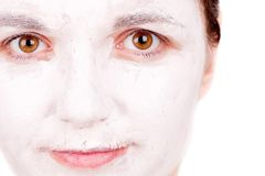 Woman doing cosmetic mask Royalty Free Stock Photography