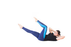 Woman doing crunches Stock Image