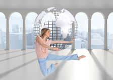 Woman doing dance pose Stock Photos