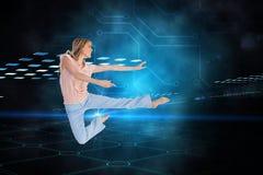 Woman doing dance pose Royalty Free Stock Photos
