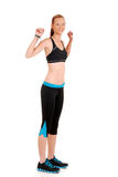 Woman doing dancing zumba fitness Royalty Free Stock Photography