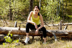 Woman doing excercise in nature. Woman doing excercise in nature Stock Images