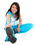 Woman doing exercise Royalty Free Stock Images