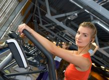Woman doing exercise Stock Photo
