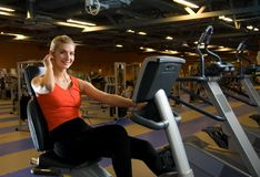 Woman doing exercise Stock Images