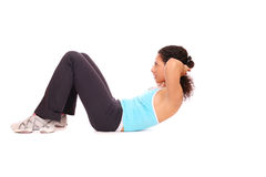 Woman doing exercise Stock Photography