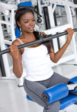 Woman doing exercise Royalty Free Stock Image