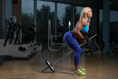 Woman Doing Exercise For Back Stock Photography