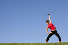 Woman doing exercise outdoor Royalty Free Stock Photography