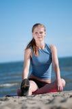 Woman doing exercise. Yoga Royalty Free Stock Image