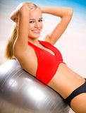 Woman doing exercises Royalty Free Stock Image